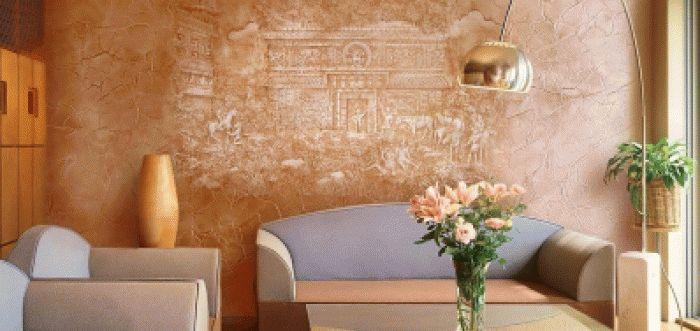 Миниатюра к статье Необычная покраска стен своими руками